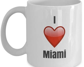I Love Miami unique ceramic coffee mug Gifts Idea
