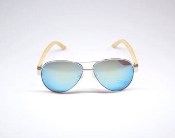 AVIATOR (Bamboo Sunglasses / glasses of bamboo) by Yen Fashion Co.