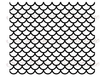 seamless mermaid scale pattern svg png dxf pdf cricut silhouette