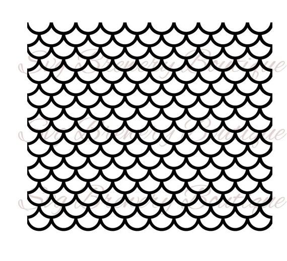 Seamless Mermaid Scale Pattern Svg Png Dxf Pdf Cricut