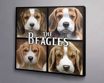 The Beagles print on canvas