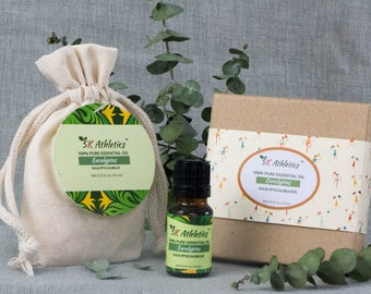 Eucalyptus Essential Oil, 100% Pure Therapeutic Grade, Undiluted, 10 mL - For Diffusers, Aromatherapy, Massage, Free Gift Package