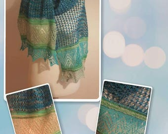 Soft lace scarf, scarf stoles, DonnaRocco,