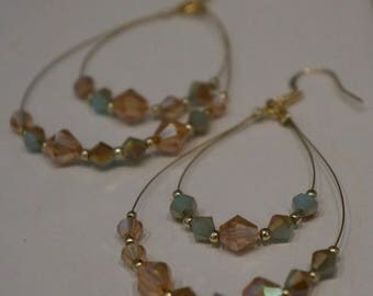 Gold Accented Drop Earring