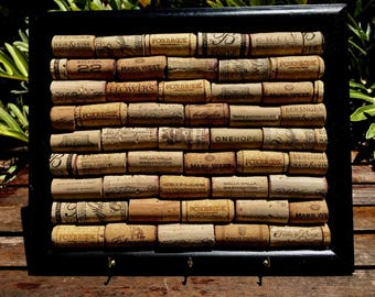 Wine Cork Board and Key Holder