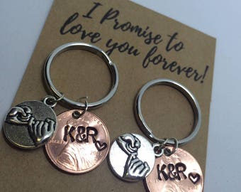 Promise Engraved Penny Keychains