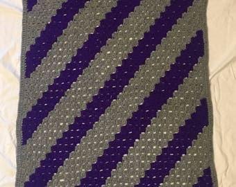 Grey and Purple Blanket
