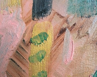 ABSTRACT PAINTING Handmade Original Canvas Art Colorful Modern Art 14x11 Wall Decor