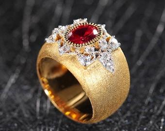 Royal style designer rings
