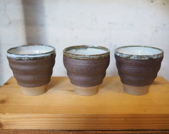 Brown Matted Tumbler by Chatchaiwat Pottery