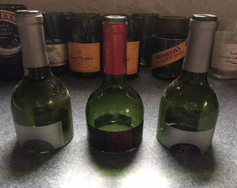 Glass wine bottle tops for projects
