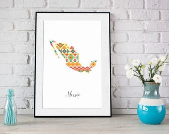 Mexico pattern poster, Instant download