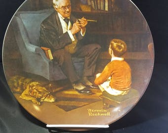 """Vintage Limited Edition 1982 Knowles Norman Rockwell """"The Last Tycoon"""" Collector Plate"""