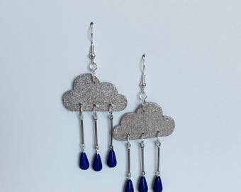 Rain drop cloud earrings