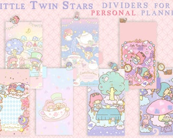 Little Twin Stars in Wonderland_ dividers for PERSONAL planner