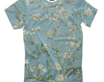 Vincent van Gogh Blossoming Almond Tree Men's Women's T-Shirt Tank Top Sleeveless