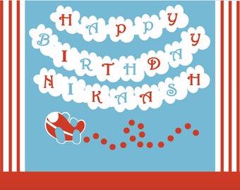 ... around the world birthday supplies, airplane birthday party decoration