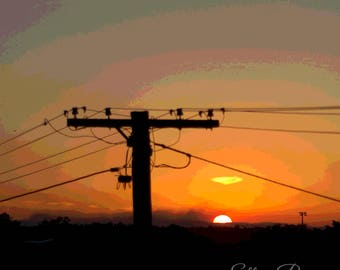 Urban Sunset // Photography // Print // Art //