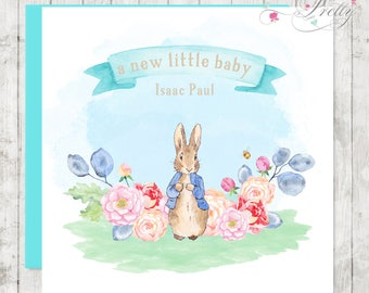 Peter Rabbit New Baby Boy Card