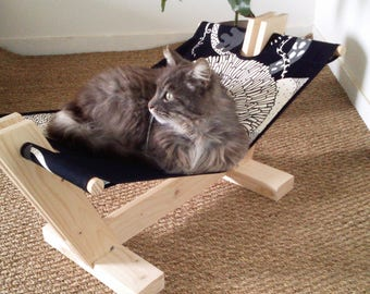 Wooden cat hammock