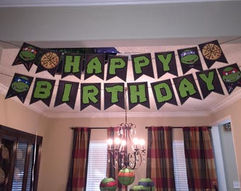 Ninja Turtle Birthday Party Decorations and favors