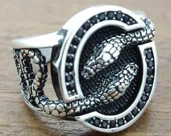 925K Sterling Silver Snake Ring