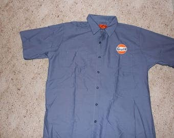 XL Gulf Work Mechanic Shirt-Retro Gasoline