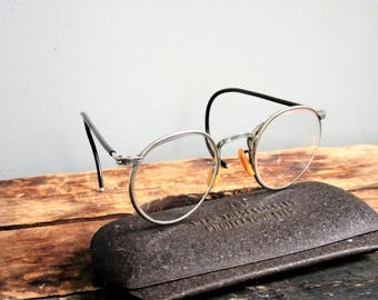 Vintage Bausch & Lomb Ful Vue Safety Glasses 23 Clear Lens | Steampunk | Vintage Motorcycl | 1950's Safety Glasses | Hipster Glasses~Rat rod