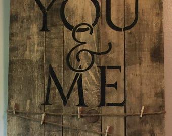 You & Me photo hanger