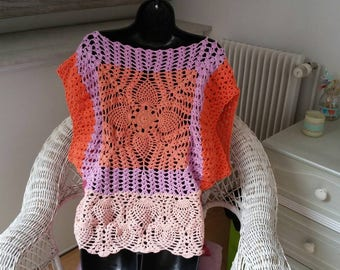 Summer bright top realized crochet