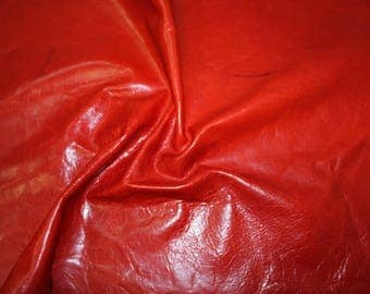 Various Remnants of Genuine Cowhide Leather - Flame Red