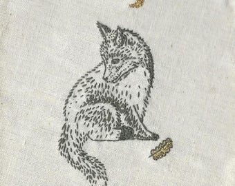 Little Fox Embroidery - one off piece