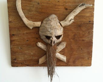 Viking pirate skull