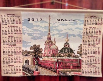 Decorative calendar. the attractions of St. Petersburg