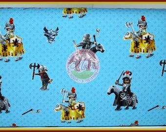 Knight Knight Playmobil Jersey blue fabric