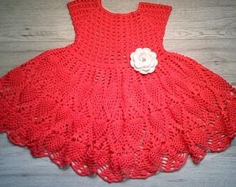 Crochet girl dress