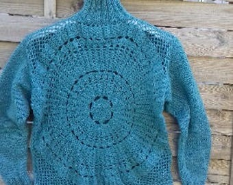 knitted and crochet sweater