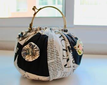 Bombonera of patchwork bag