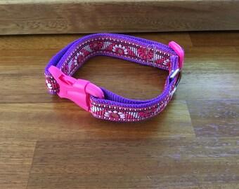 Handmade open clip dog collar