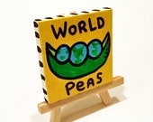 World Peas 3x3 Minipop Painting