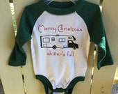 Merry Christmas Shitter's Full National Lampoons Baby Onesie Christmas Graphic 3-6 months
