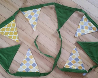 CSU Flag Banner fabric Bunting Graduation Neutral photo prop Baby Nursery party banner