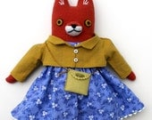 Girl Fox Doll wool plush softie