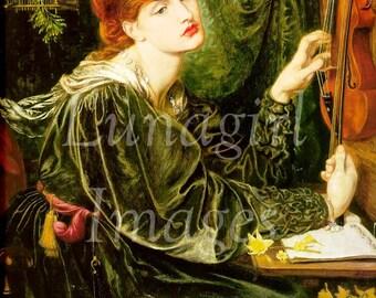 Pre-Raphaelite ART 300 images, Waterhouse Rossetti Millais, VICTORIAN paintings, VINTAGE digital ephemera, goddess women mythology fantasy