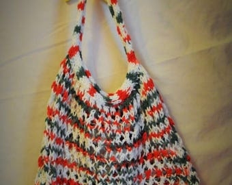 Moving Sale Amazing Stretchy Knitted Carry All - Set of Two Bags - White, Red, and Green