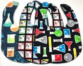 Science Baby Bib - Nerd - Bib set - baby shower gift - chemistry - elements - handmade - infant