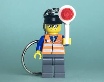 Lego Keychain (Train Signalman)