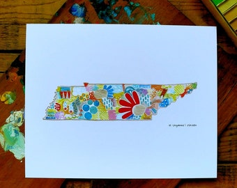 tennessee - tn - 8 x 10 inches