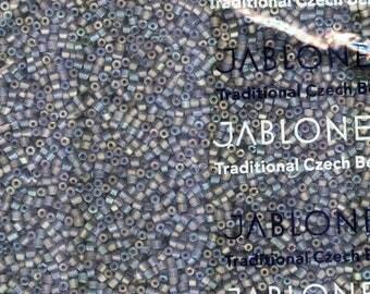 Jablonex Czech 10/0 Matte Tr Gray AB Seed Bead 20 Grams