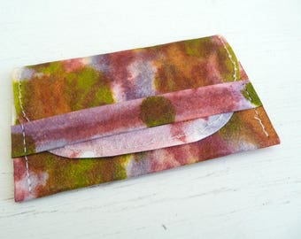 Kraft Tex Gift Card Holder, Business Card Case, Card Sleeve, Hand Dyed Multicolor
